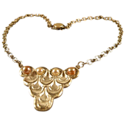 REDUCED Art Clay Silver Wedding Dress Pendant, with pearls