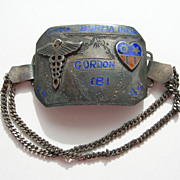 USA World War 2 – CBI Theatre Silver Enamel – Caduceus Medical Badge Bracelet †...