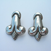 Hector Aguilar – Sterling Silver – Early Earrings – Converted to Pierced