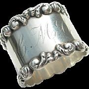 Blackinton Sterling - Napkin Ring - Late 19th Century - CMC Monogram