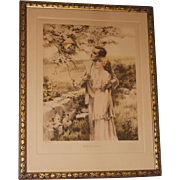 REDUCED Original Bessie Pease Gutmann Home Builders Framed Lithograph