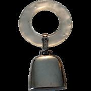 REDUCED Vintage Sterling Silver Engravable Teething Ring