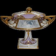 REDUCED RARE Minton pâte-sur-pâte covered vase by Albion Birks
