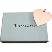 REDUCED Vintage Tiffany & Co. Sterling Silver Heart Pendant Engravable