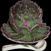 REDUCED Vintage MINT Neuwirth Pottery Portugal Artichoke Serving Set