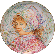 """REDUCED Edna Hibel Signed Collectible plate """"Nobility of Children"""" Rosenthal W/ Box"""