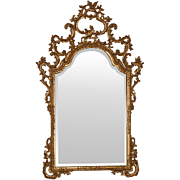 REDUCED Roberto Giovanini Hand Carved and Gilded Shaped Mirror
