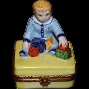 REDUCED Limoges Limited Edition Artoria Trinket Box Little Boy With Blocks N64