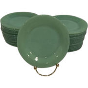 SALE PENDING Fire King Jadeite Restaurant Ware Bread & Butter Plates 6 Available