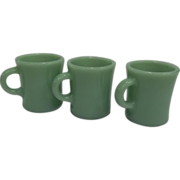 Fire King Jadeite Thick Chocolate Slim Mugs- 1 Available