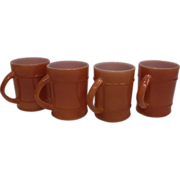SALE Fire King Anchor Hocking Ranger Coffee Mug-Lot 4