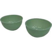 """SOLD Fire King Jadeite Beaded Edge 4 7/8"""" Bowls-2 available"""