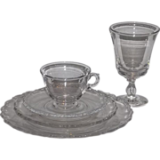 SALE Fostoria Century 5 piece place setting - 8 set available