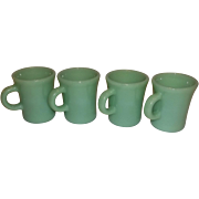 Fire King Jadeite Slim Chocolate Mugs- 4 Available