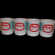 SALE Fire King RARE – 4 Stuckey's Mugs