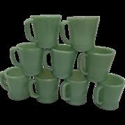 "SALE PENDING Fire King Jadeite ""D"" Handle Coffee Mugs"