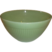 Fire King Jadeite Jane Ray Ribbed Vegetable Bowl