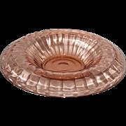 Depression Glass -Pink Block Optic Console Bowl
