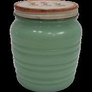 Fire King Jadeite Tulip Grease Jar