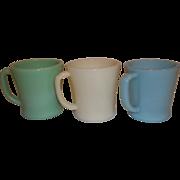 """Fire King """"D"""" Handle Coffee Mugs"""
