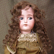 SALE PENDING Great old human hair wig for your doll