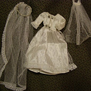 SALE PENDING Sweet vintage bride dress with two veils