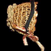 Antique adorable straw bonnet