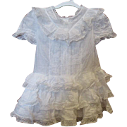 SOLD Stunning Antique doll dress
