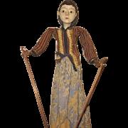 Beautiful wooden ~  Wayang Golek or rod puppet