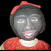 Amazing hand painted Black folk art doll