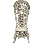 SOLD Very ornate Wicker Chair for your doll or teddy