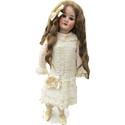 "Beautiful Charming 30"" Bisque doll"