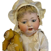 Darling large Antique bisque baby doll