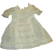Gorgeous antique dress inlaid lace and pintucking