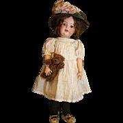 SALE PENDING Adorable Kestner bisque toddler doll