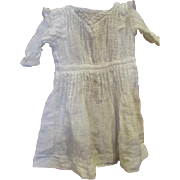 Beautiful ,Pintucking, inlaid netted lace dress for a large doll.