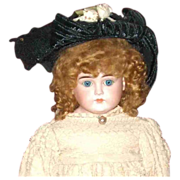 SOLD Great antique straw hat for your large doll