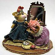 "SOLD Wee Forest Folk - ""A Stitch in Time"" Sculpture Ltd. Ed."