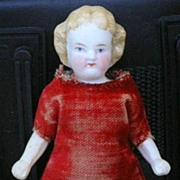 SALE German antique All-bisque doll 4.25""