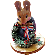 "Wee Forest Folk Mouse ""The Wreathmaker"""