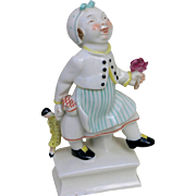 REDUCED German Porcelain Figurine of Little girl with her doll by Sonnleitner and Schwarzburge