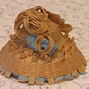 SALE Antique Straw Hat for French Fashion Doll