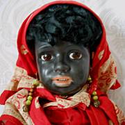 Fabulous Museum Quality All Original Simon & Halbig Black Character Doll