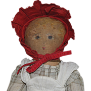 """""""Little Red Riding Hood"""" Cloth Doll with Painted Face by Bye Bye Kids"""