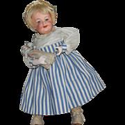 SOLD Happy Gebruder Heubach German Bisque Head Walking Doll with Baby