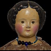 Sonneberg Type Superior German Papier Mache Head Doll
