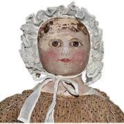 Columbian Oil Painted Cloth Doll
