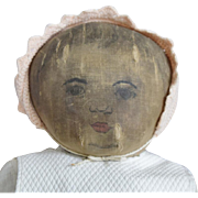SOLD Early Cloth Rag Doll with Lithograph Printing