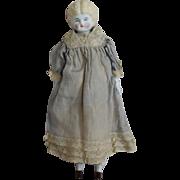 Low Brow Blonde German China Head Doll by Hertwig