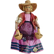 All Original Cloth Lenci Type Doll in Regional Costume